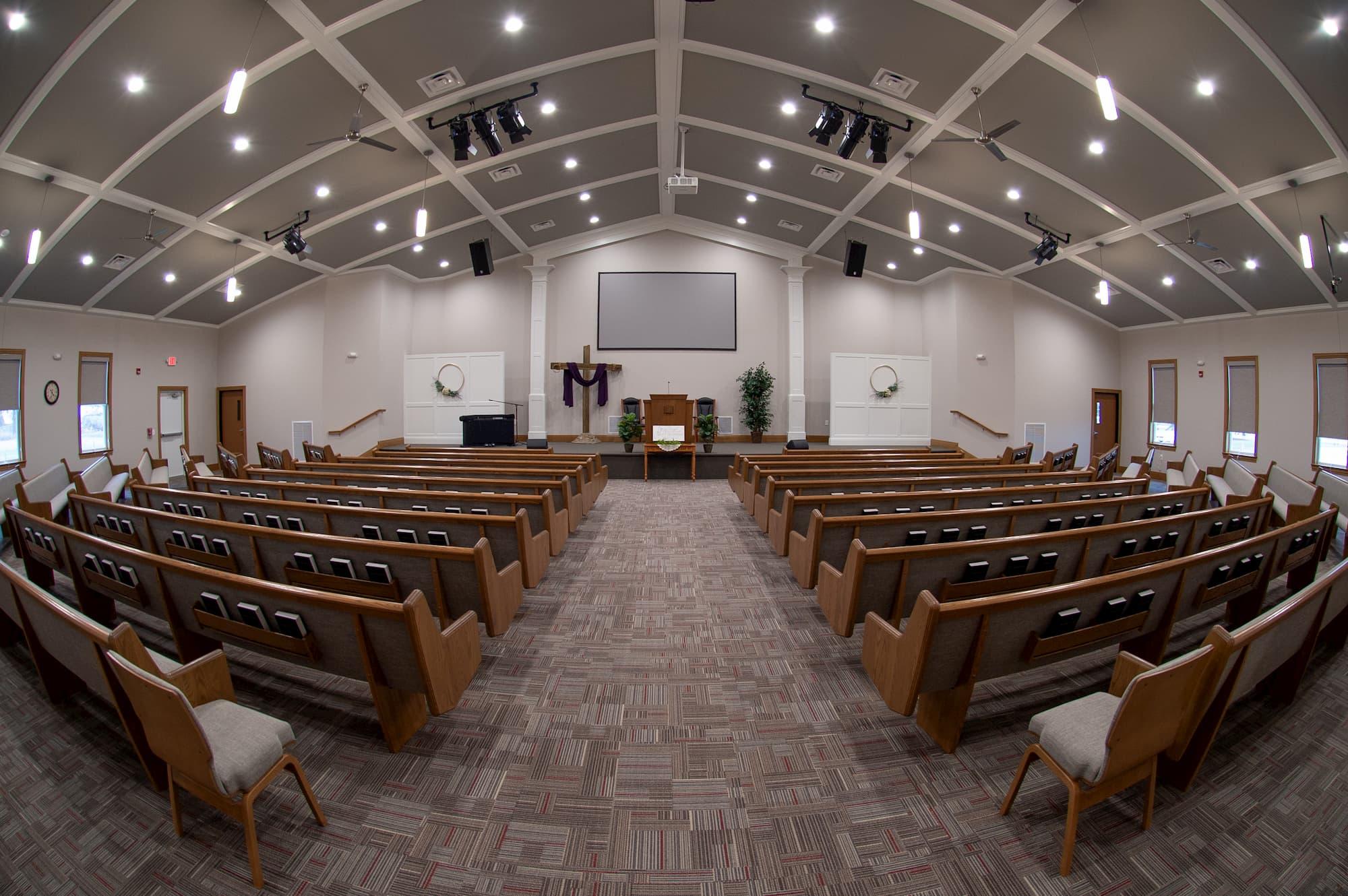 New Construction Church Auditorium